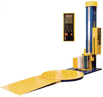 Полуавтомат с рампой для обёртывания плёнкой грузовых поддонов